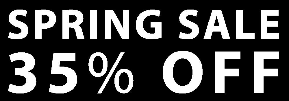 Spring Sale 35% Off